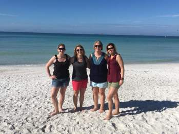 My friends and I at the beach market