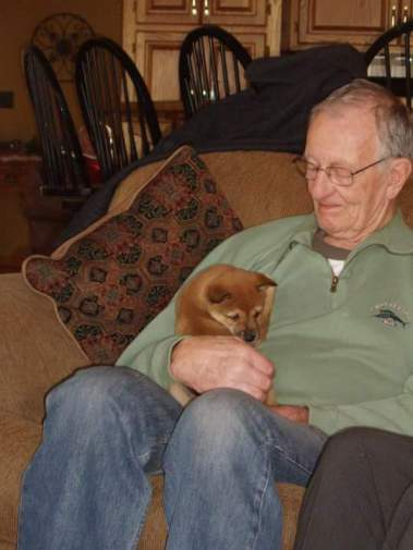 My grandpa and Deuce..one of my favorite pictures